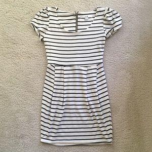 Forever 21 XXI Black & White Striped Dress Small